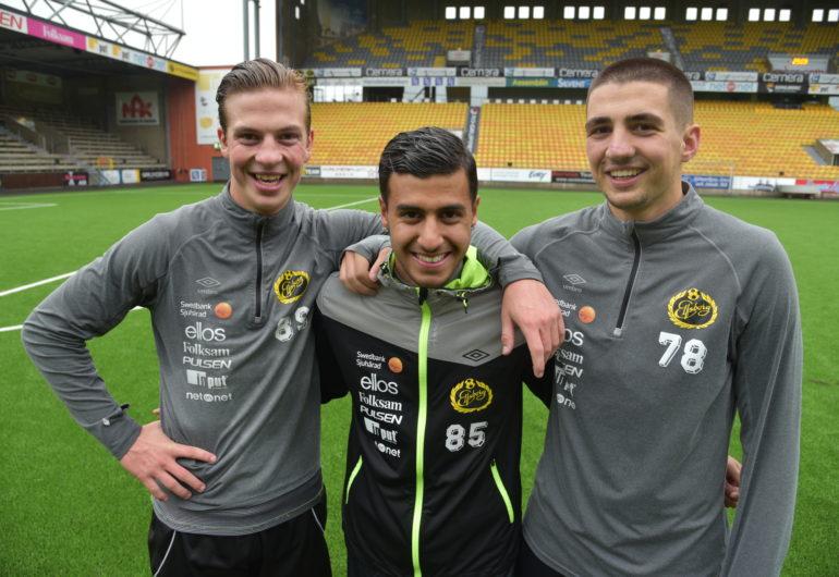 Simon Olsson, Rami Kaib och Ibrahim Dresevic