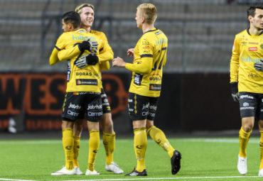 161011 Elfsborgs Viktor Götesson jubel efter 3-2 under fotbollsmatchen i Folksam U21 allsvenskan A-slutspel mellan Elfsborg och Malmö FF den 11 oktober 2016 i BORÅS. Foto: JÖRGEN JARNBERGER / BILDBYRÅN / Cop 112