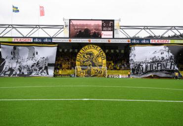 160807 Tifo under fotbollsmatchen i Allsvenskan mellan Elfsborg och Häcken den 7 augusti 2016 i BORÅS. Foto: JÖRGEN JARNBERGER / BILDBYRÅN / Cop 112